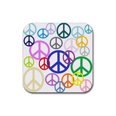 Peace Sign Collage Png Drink Coaster (Square)