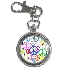 Peace Sign Collage Png Key Chain Watch