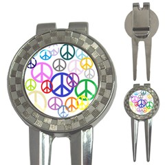 Peace Sign Collage Png Golf Pitchfork & Ball Marker