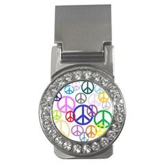 Peace Sign Collage Png Money Clip (CZ)