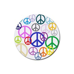 Peace Sign Collage Png Drink Coasters 4 Pack (Round)