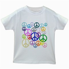 Peace Sign Collage Png Kids T Shirt (white)