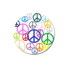 Peace Sign Collage Png Magnet 3  (Round)