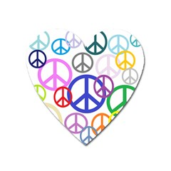 Peace Sign Collage Png Magnet (Heart)