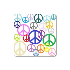 Peace Sign Collage Png Magnet (square)