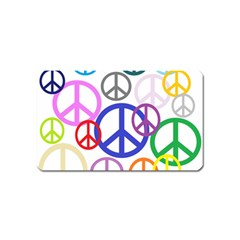Peace Sign Collage Png Magnet (Name Card)