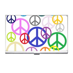 Peace Sign Collage Png Business Card Holder