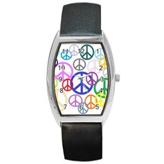 Peace Sign Collage Png Tonneau Leather Watch