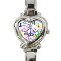 Peace Sign Collage Png Heart Italian Charm Watch