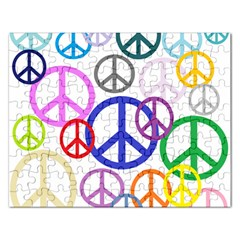 Peace Sign Collage Png Jigsaw Puzzle (Rectangle)