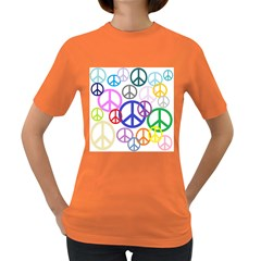 Peace Sign Collage Png Women s T-shirt (Colored)