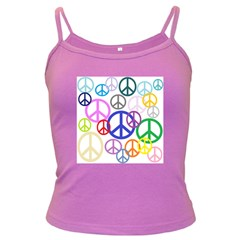 Peace Sign Collage Png Spaghetti Top (Colored)