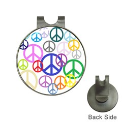 Peace Sign Collage Png Hat Clip With Golf Ball Marker