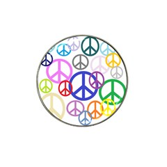 Peace Sign Collage Png Golf Ball Marker (for Hat Clip)