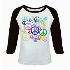 Peace Sign Collage Png Kids Long Cap Sleeve T-Shirt