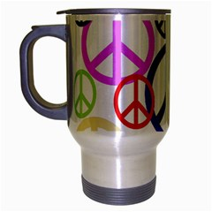 Peace Sign Collage Png Travel Mug (silver Gray)