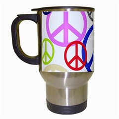 Peace Sign Collage Png Travel Mug (White)