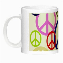 Peace Sign Collage Png Glow in the Dark Mug