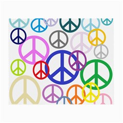 Peace Sign Collage Png Glasses Cloth (Small)