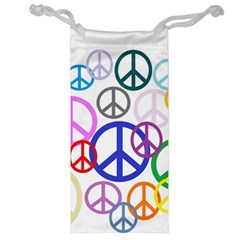 Peace Sign Collage Png Jewelry Bag