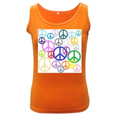 Peace Sign Collage Png Women s Tank Top (Dark Colored)
