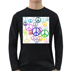 Peace Sign Collage Png Men s Long Sleeve T-shirt (Dark Colored)