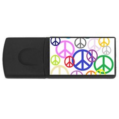 Peace Sign Collage Png 4gb Usb Flash Drive (rectangle)