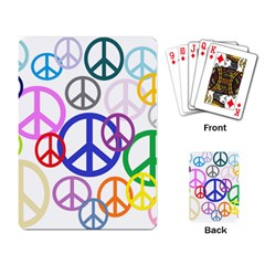 Peace Sign Collage Png Playing Cards Single Design