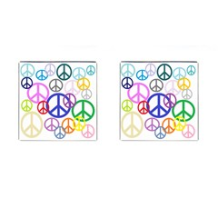 Peace Sign Collage Png Cufflinks (square)