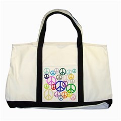 Peace Sign Collage Png Two Toned Tote Bag