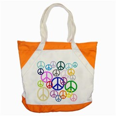 Peace Sign Collage Png Accent Tote Bag