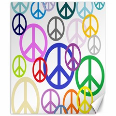 Peace Sign Collage Png Canvas 8  x 10  (Unframed)