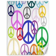 Peace Sign Collage Png Canvas 12  x 16  (Unframed)