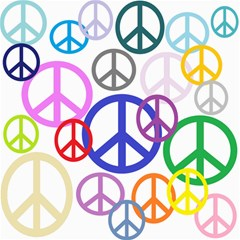 Peace Sign Collage Png Canvas 16  x 16  (Unframed)