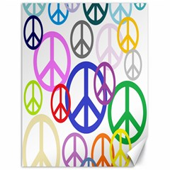 Peace Sign Collage Png Canvas 18  x 24  (Unframed)