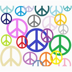 Peace Sign Collage Png Canvas 20  X 24  (unframed)