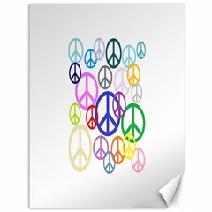 Peace Sign Collage Png Canvas 36  x 48  (Unframed)