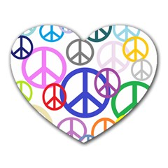 Peace Sign Collage Png Mouse Pad (heart)