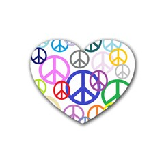 Peace Sign Collage Png Drink Coasters 4 Pack (Heart)