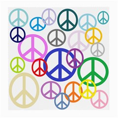 Peace Sign Collage Png Glasses Cloth (Medium, Two Sided)