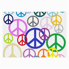 Peace Sign Collage Png Glasses Cloth (large, Two Sided)