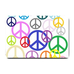 Peace Sign Collage Png Small Door Mat