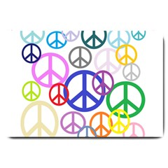 Peace Sign Collage Png Large Door Mat