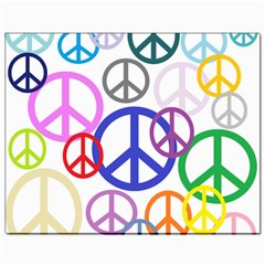 Peace Sign Collage Png Canvas 11  x 14  (Unframed)
