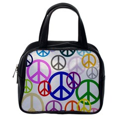 Peace Sign Collage Png Classic Handbag (One Side)