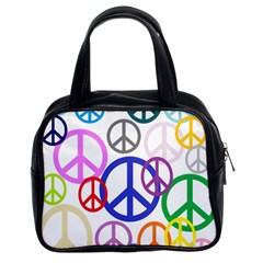 Peace Sign Collage Png Classic Handbag (Two Sides)