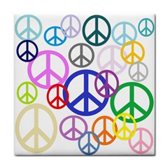 Peace Sign Collage Png Face Towel