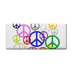 Peace Sign Collage Png Hand Towel