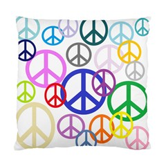 Peace Sign Collage Png Cushion Case (Two Sided)