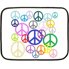 Peace Sign Collage Png Mini Fleece Blanket (Two Sided)
